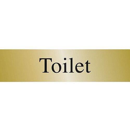 Brass Effect Prestige Range Sign Toilet