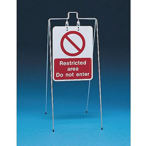 Double Sided Free Standing Sign Restricted