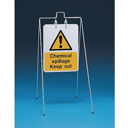Double Sided Free Standing Sign Chemical