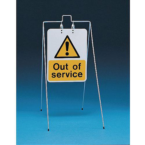 Double Sided Free Standing Sign Out Of Service