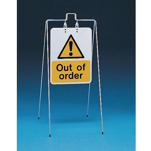 Double Sided Free Standing Sign Out Of Order