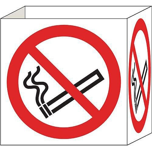 Cube Signs No Smoking Zone 200x200mm