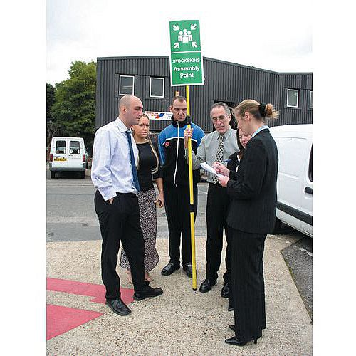 Extendable Assembly Point Sign 300x600 Rigid Plastic