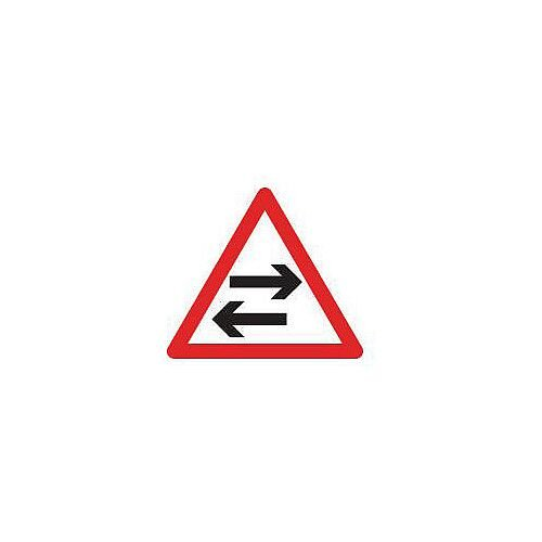 Regulatory Traffic Sign Two Way Traffic Across Road Class 2