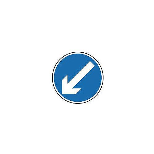 Regulatory Traffic Sign Arrow Down Left Dia 300mm Class 2