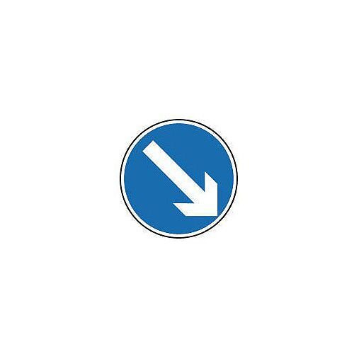 Regulatory Traffic Sign Arrow Down Right Dia 300mm Class 2