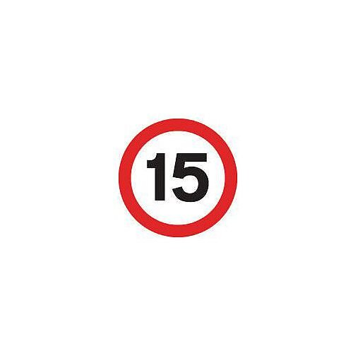 Regulatory Traffic Sign 15 Mph Class 1