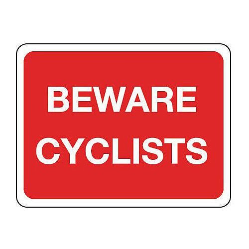 Sign Beware Cyclists 800X400 Reflective