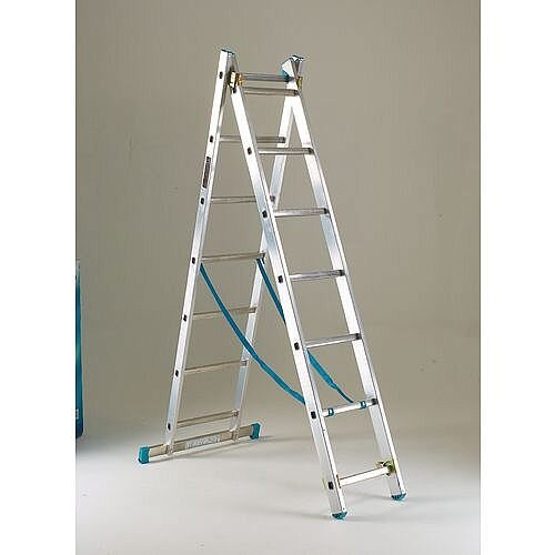 EN131-GS-NF Heavy Duty Two Section Transformable Aluminium Ladder Extended Height 5.92M 130kg