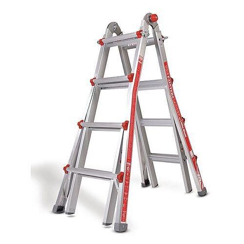 Aluminium Multipurpose Telescopic Ladder  4 Rung Per Section 4160Mm Extended Height