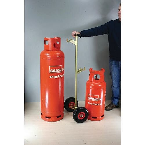 Butane Propane Cylinder Trolley For 19Kg And 47Kg Cylinders Puncture Proof Wheels