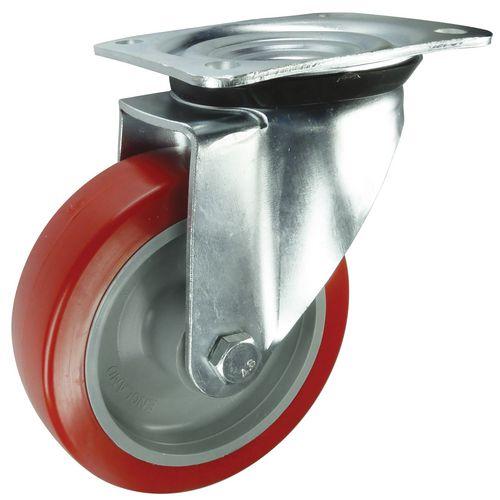 Polyurethane Tyred Wheel, Medium Duty - Swivel