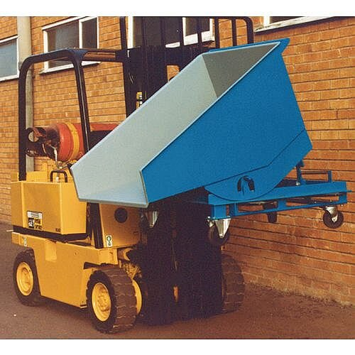 3 Way Entry Mobile Tipping Skips 0.25 Cubic M Capacity