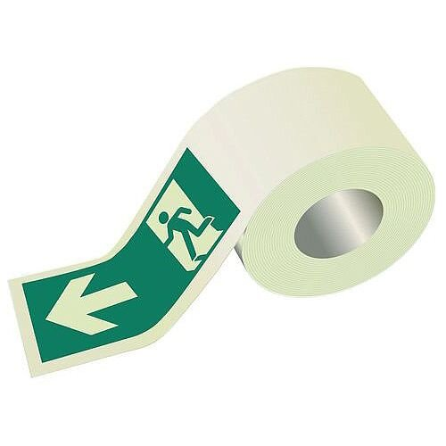 Photoluminescent Safety Way Guidance Direction Tape Wide 80mm x 10m