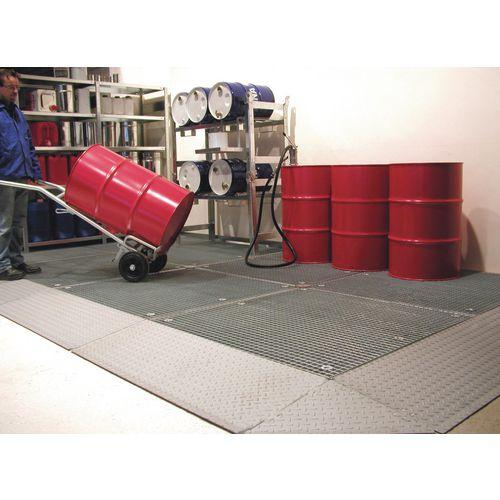 Low Profile Galvanised Sump Flooring Platform With Grid HxWxLmm 78x1350x1350