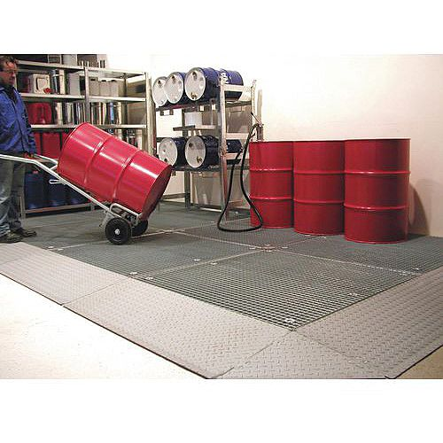 Low Profile Galvanised Sump Flooring Platform With Grid HxWxLmm 78x1350x1900