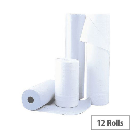 Multipurpose Wipers 2 Ply Cleaning Rolls White 59.4m Pack 12 White