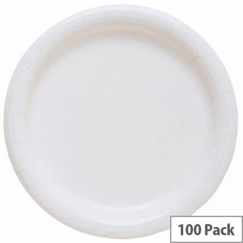Disposable White Paper Plates 9inch Pack 1000
