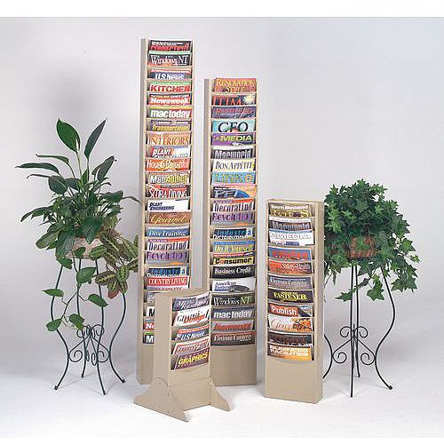 Literature Rack Legs For Floor Mounting Black
