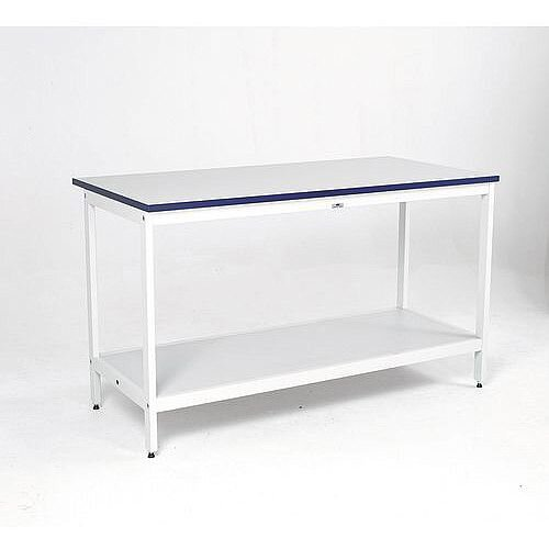 Heavy Duty Mailroom Bench Basic Bench With Bottom Shelf H750 x D750 x L1800mm