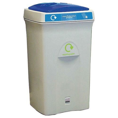 Recycling Bin Plastic Bottles 100 Litre Grey/Blue