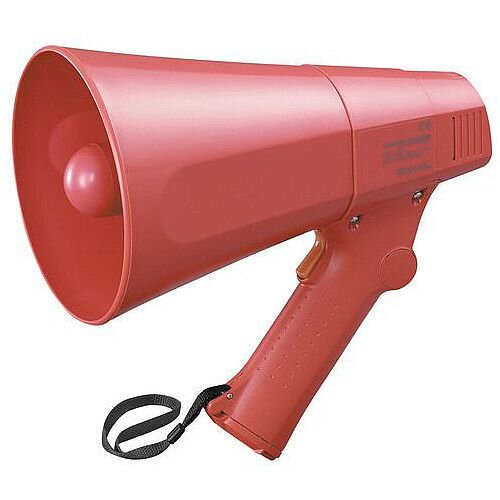 Compact Megaphone With Siren Feature Red
