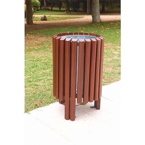 Outdoor Woodentimber Litter Bin 65l