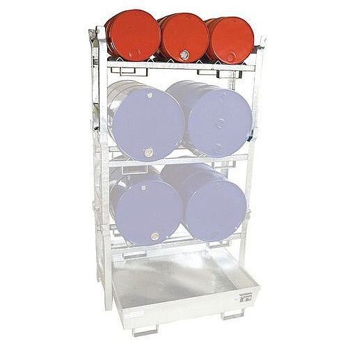 Horizontal Drum Racking Drum Shelf For 3 x 60L Drums