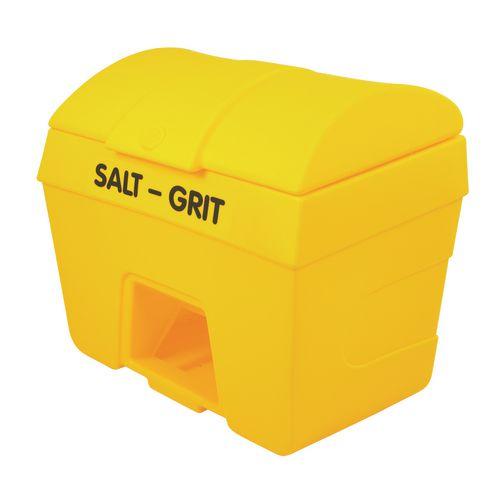400L Heavy Duty Plastic Salt &Grit Bin With Hopper Feed 400L Capacity