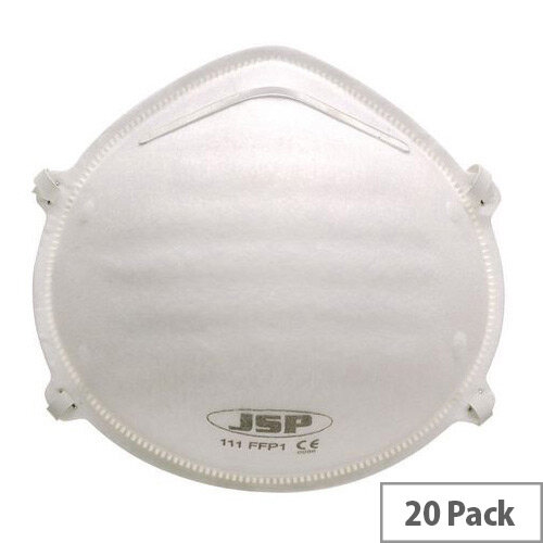 P1 Moulded Disposable Masks P1 Unvalved Pack of 20