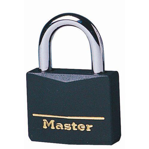 Coloured Lockout Padlock Black Pack of 6