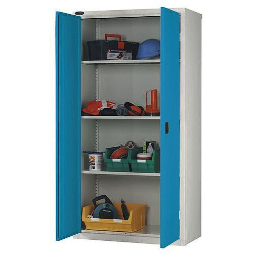 Standard Strong Industrial Cupboard Door Colour Blue H x W x D mm: 1780 x 915 x 460