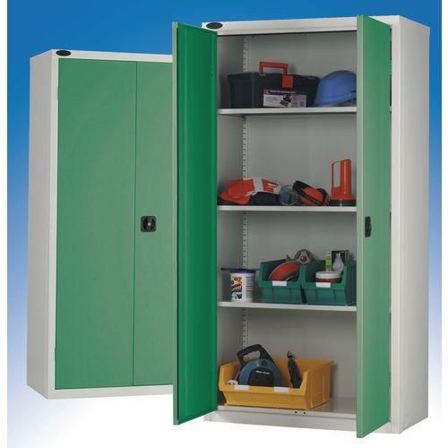 Standard Strong Industrial Cupboard Door Colour Green H x W x D mm: 1780 x 915 x 460