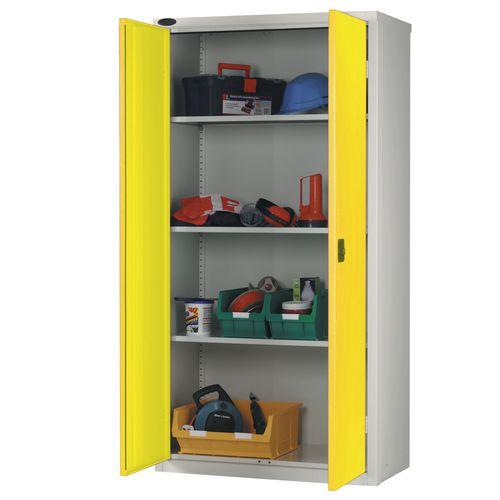 Standard Strong Industrial Cupboard Door Colour Yellow H x W x D mm: 1780 x 915 x 460