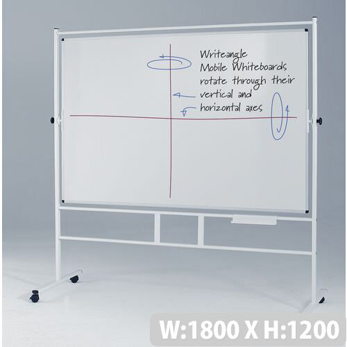 Landscape Revolving Double-Sided Whiteboard With Guideline Surface 1200x1800mm