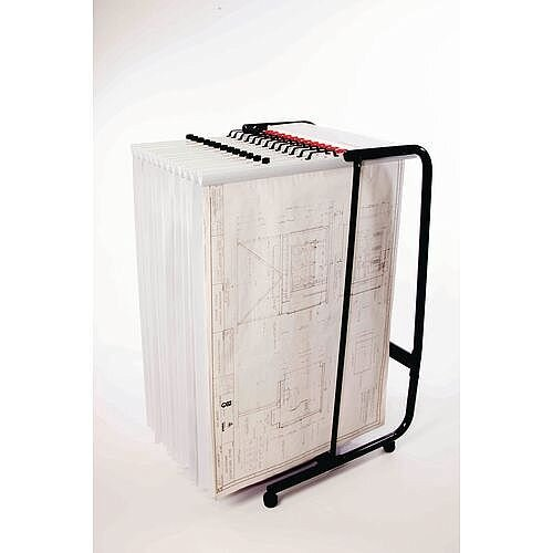 Plan Filing Mobile Trolley Will Take Mixture 10 x A0 or B1 Clamps