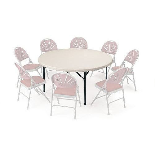 Polyfold Lightweight Folding Table Circular 1220mm Dia