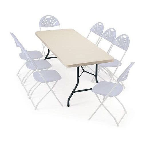 Polyfold Lightweight Folding Table Rectangular L 1220mm