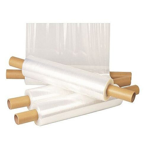 Extended Core Stretch Wrap Medium Duty 17 Micron Pack of 6 W400mm x L300m