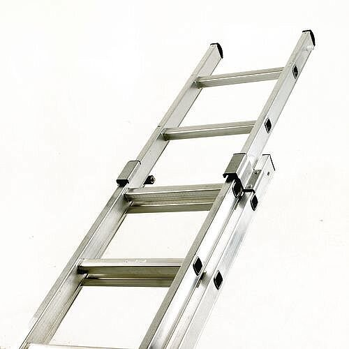 EN131-GS-NF Industrial Use Two Section 28 Rung Pushup Ladder Extended Height 7.18M Closed Height 4.1M 150kg