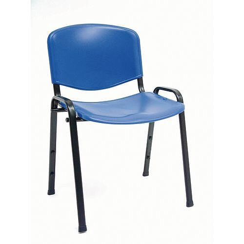 Plastic Stacking Chair Blue Pack Of 4