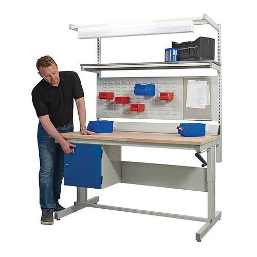 Adjustable Height WorkBenches D600 x L1500mm