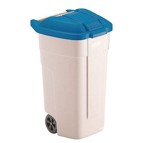 Rubbermaid Big 2 Wheels Wheelie Bin Container Blue 100L