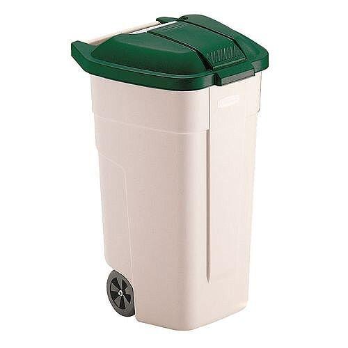 Rubbermaid Big 2 Wheels Wheelie Bin Container Green 100L