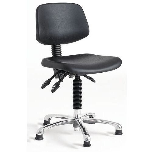 Polyurethane Chair 5 Star Base With Floor Glides Height Adjustment 460-660mm