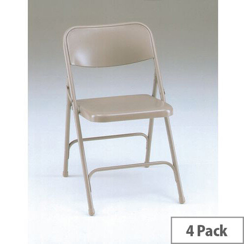 Steel Folding Chair Set of 4 Grey