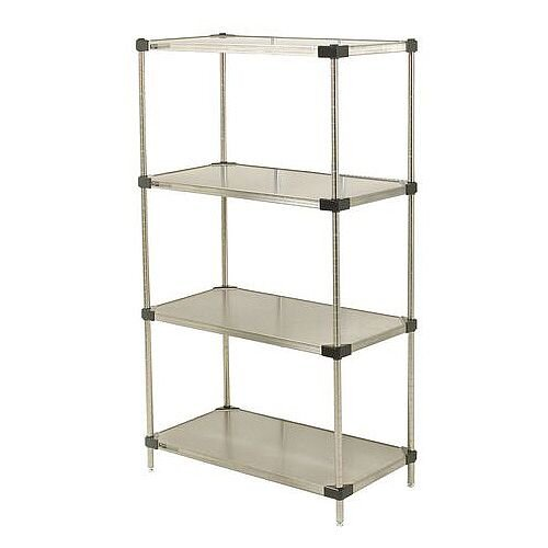 Super Erecta Solid Stainless Steel Shelving 4 Shelf Unit HxWxDmm 1590x914x457