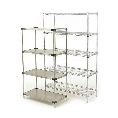 Super Erecta Solid Stainless Steel Shelving 5 Shelf Unit HxWxDmm 1895x1219x457