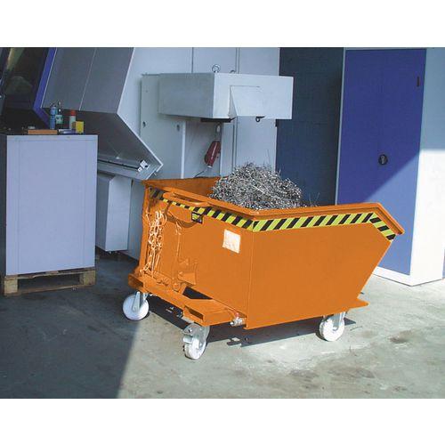 Automatic Swarf Tipping Skip Orange Capacity 750kg SY326378
