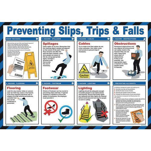 Poster-Safety-Preventing Slips 59X42 Mm